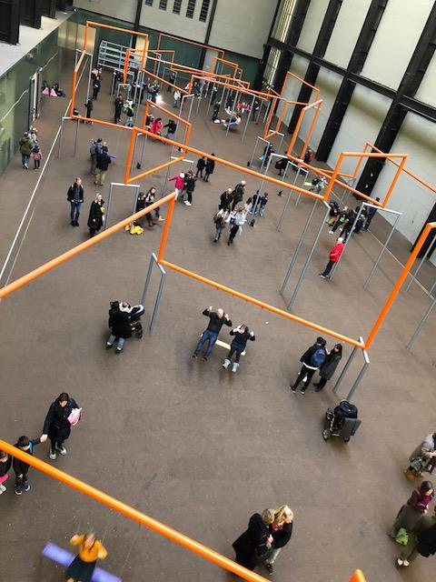 Giant swings, Turbine Hall, Tate Modern
